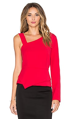BCBGMAXAZRIA Falisha Top in Burnt Red