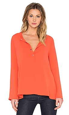 BCBGMAXAZRIA Nataleigh Bell Sleeve Top in Dusty Saffron