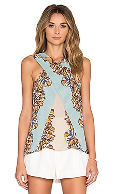 Maryssa Tank in Bright Aqua Combo