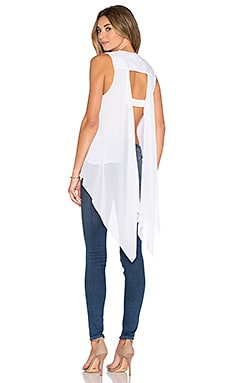 BCBGMAXAZRIA Open Back Tank in White