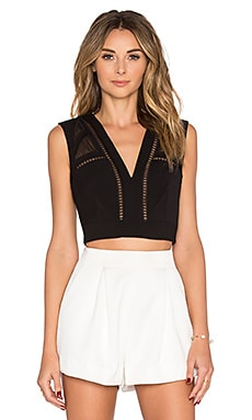 BCBGMAXAZRIA Deep V Tank in Black