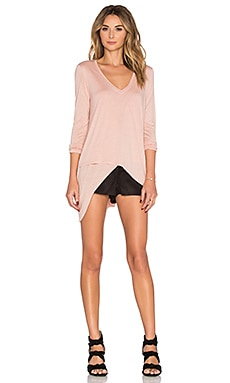 BCBGMAXAZRIA Long Sleeve Top in Antique Rose