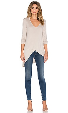 Long Sleeve Top in Light Stone