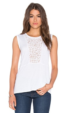 Kensey Lace Tank in White
