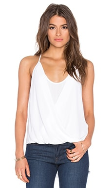 Sayge Racer Back Tank in White