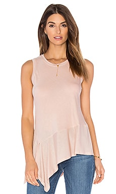 Asymmetrical Tank in Bare Pink