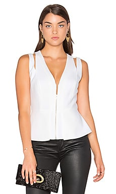 BCBGMAXAZRIA Catrina Top in Off White