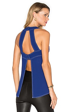 Open Back Tank in Deep Royal Blue