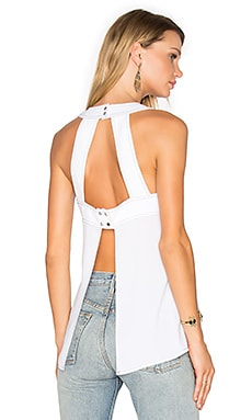 Open Back Tank in White
