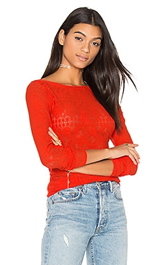 Wylie Top in Bright Red