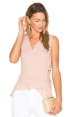 Eleni Wrap Top in Antique Rose