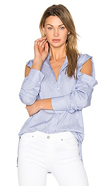 Nishani Blouse in Light Blue Combo