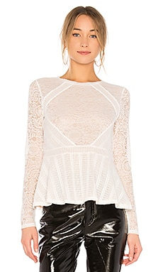 Capri Peplum Top In Off White