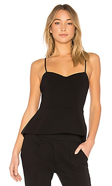 Shannan Bustier Top With Peplum In Black