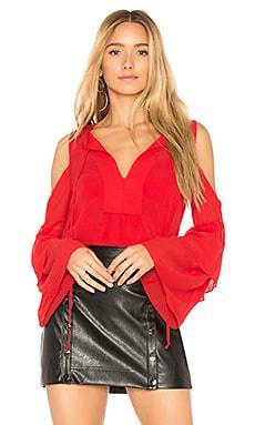 Купить Топ с рукавами-колокол jalena - BCBGMAXAZRIA красного цвета