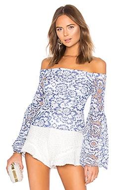 Kamryn Bell Sleeve Top BCBGMAXAZRIA $198