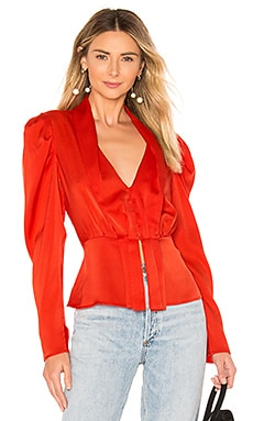 Draped Sleeve Top BCBGMAXAZRIA $198