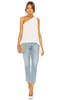 One Shoulder Blouse BCBGMAXAZRIA $178 BEST SELLER