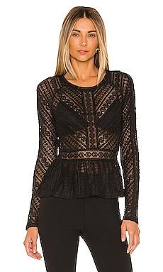 Knit Lace Top BCBGMAXAZRIA $97