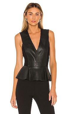 Faux Leather Bodysuit BCBGMAXAZRIA $104