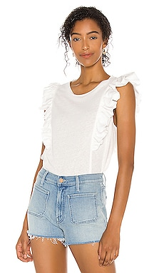 Sleeveless Ruffle Knit Top BCBGMAXAZRIA $69