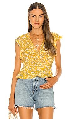 Flutter Sleeve Blouse BCBGMAXAZRIA $138 NEW