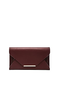BCBGMAXAZRIA Envelope Clutch in Deep Port