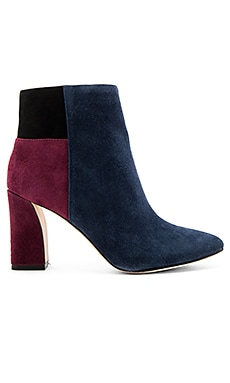Blyss Bootie in Dark Navy, Black & Port
