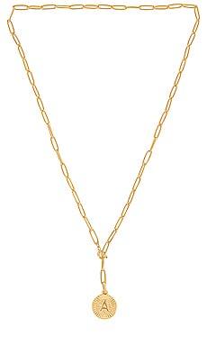 Initial Medallion Lariat Necklace BRACHA $62 BEST SELLER