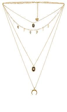 Crescent Moon Layered Necklace BRACHA $65 NEW