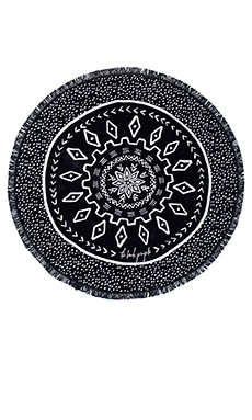 The Beach People The Dreamtime Round Towel in Black & White