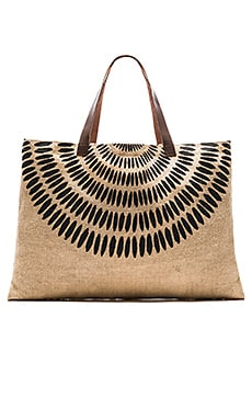 The Beach People x REVOLVE Jute Tulum Bag in Natural