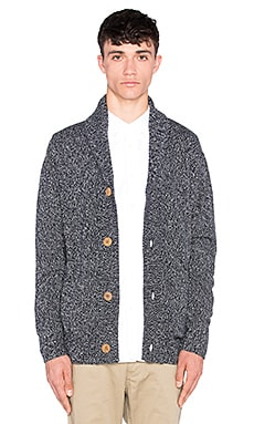 Barney Cools Cabin Cardigan in Navy Melange