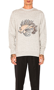Lion Fish Knit Pullover