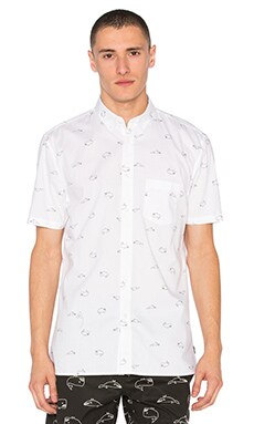 Barney Cools Whale Shirt in White