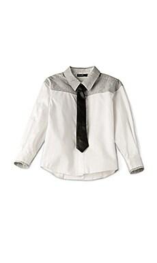 PU Tie Shirt