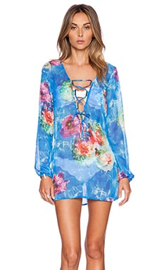 Beach Bunny Wave Lengths Tunic in Water & Floral