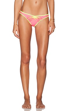 Beach Bunny Lunar Bikini Bottom in Pink & Yellow