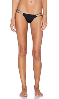 Beach Bunny Lilith Sun Bikini Bottom in Black