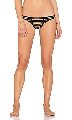 Beach Bunny Hard Summer Skimpy Bottom in Black & Nude