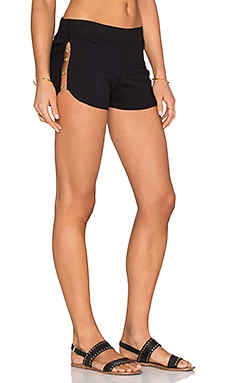 Beach Bunny Tribal Theory Short Cover Up in Black