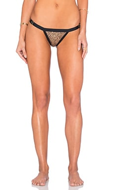 Beach Bunny After Dark Bottom in Taupe & black