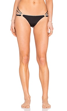 Beach Bunny Love Stitch Skimpy Bottom in Black