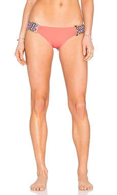 Beach Bunny Boho Paradise Skimpy Bottom in Coral