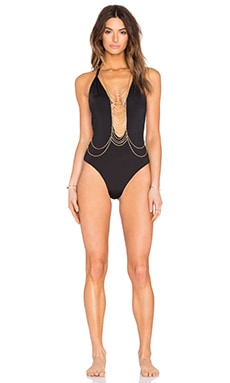 Beach Bunny Chain Reaction One Piece in Black