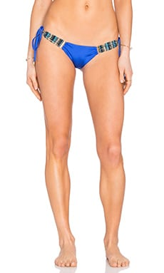 Beach Bunny Out Of Your League Skimpy Tie Side Bottom in Sapphire