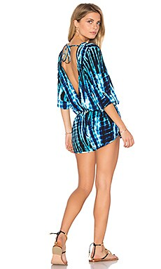Making Waves Romper in Blue Tie Dye