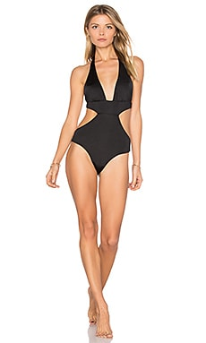 Basic One Piece Swimsuit in Black