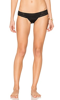 Crochet Lady Lace Skimpy Bikini Bottom in Black