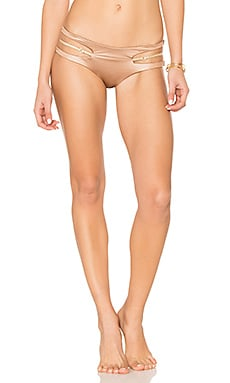 Basic Cut Out Skimpy Bikini Bottom in Bronze